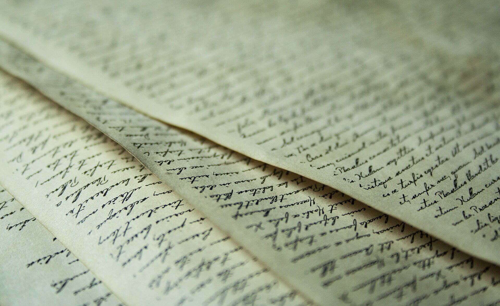 Handwritten documents